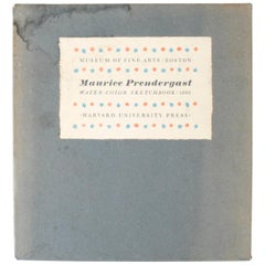 Maurice Prendergast Water Color Sketchbook, 1899, First Edition
