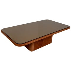 "Patinated Cognac Leather ""DS-47"" Rectangular Coffee Table De Sede, Switzerland"