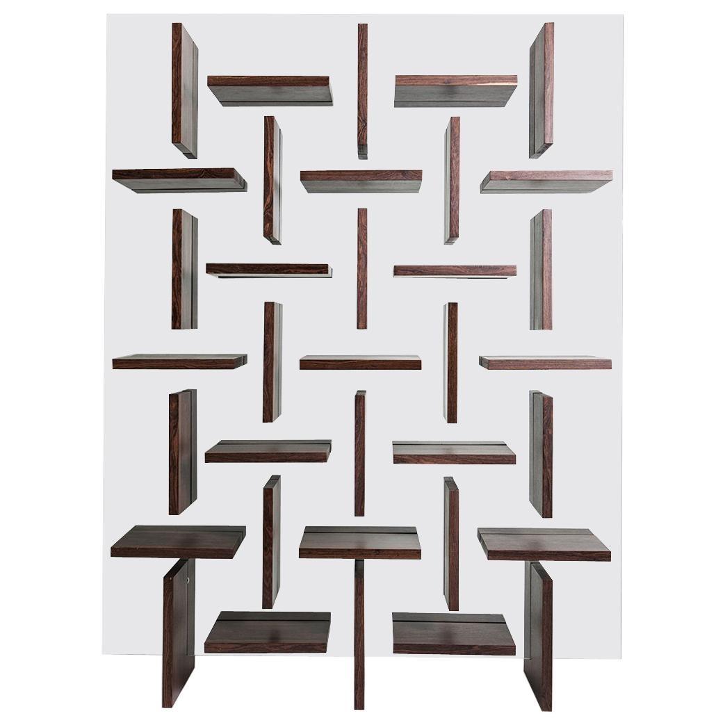 """Glass Shelves """"Cross"""" by Alva Design, Contemporary Brazilian Design"""