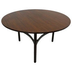 Gianfranco Frattini Circular Rosewood Italian Dining Table by Cassina, 1960
