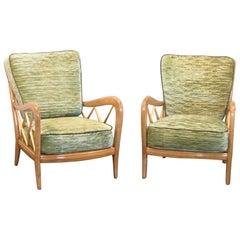 20th Century Pair of Lounge Chairs by Paolo Buffa