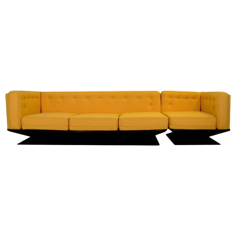Mid-Century Modern Signed Luigi Pellegrin, MIM Roma, Ico Parisi Sectional Sofa For Sale