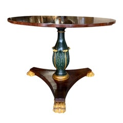 19th Century Neoclassical Continental Center Table