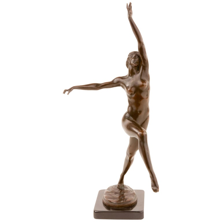 """Desha"" Bronze Sculpture by, Harriet Whitney Frishmuth Cast by, Gorham Co. For Sale"