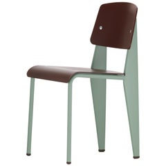 Jean Prouvé Standard Chair SP in Teak Brown and Mint for Vitra
