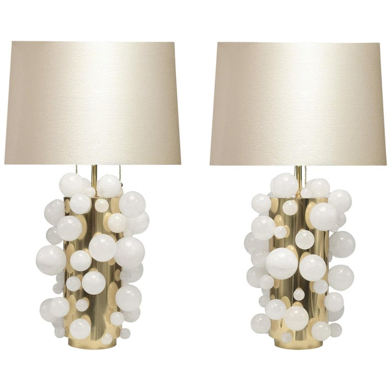 Rock Crystal Bubble Lamps by Phoenix For Sale