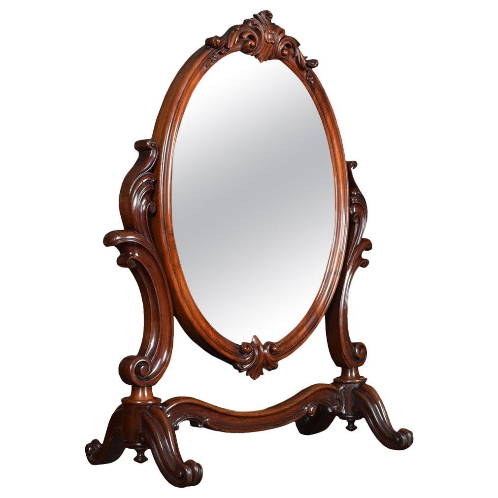 19th Century Mahogany Dressing Table Mirror