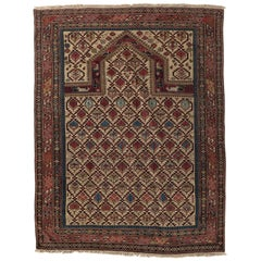 Antique circa 1880 Caucasian Dagestan Prayer Rug