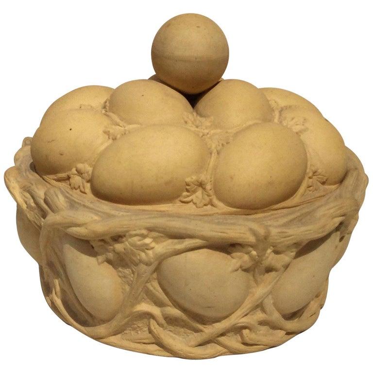 Caneware Egg Basket Tureen For Sale