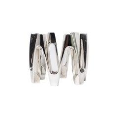 Midcentury Danish Modern Silver Candleholder by Jens Quistgaard for Dansk