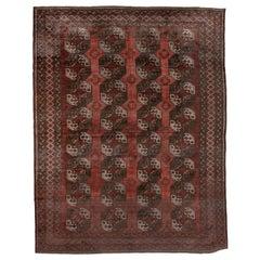 Antique Red Turkmen Ersari Carpet