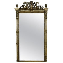 Rococo Revival Giltwood and Composition Pier Mirror
