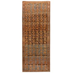 Antique Malayer Runner Rug, Hand Knotted Wool