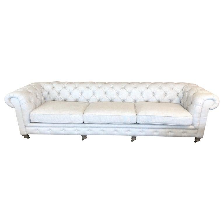 Restoration Hardware Timothy Oulton Kensington Fabric Sofa For Sale