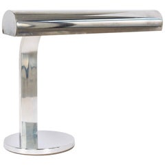 Mid-Century Modernist Stainless Steel Tubular Table Lamp, 1970s