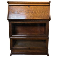 Macey Barrister Bookcase, Desk, Oak, circa 1910 Arts & Crafts