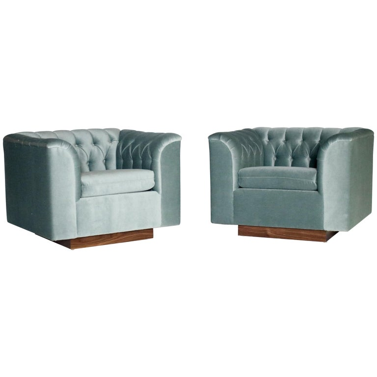 Ward Bennett Cube Club Chairs For Sale