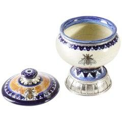 Ceramic and White Metal 'Alpaca' Bee Jar