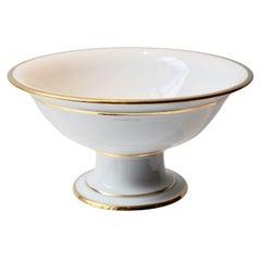 Wonderful Old Paris Porcelain Bowl on Stand, France, 1820s