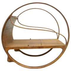 Art Nouveau Bent Sandalwood Rocker