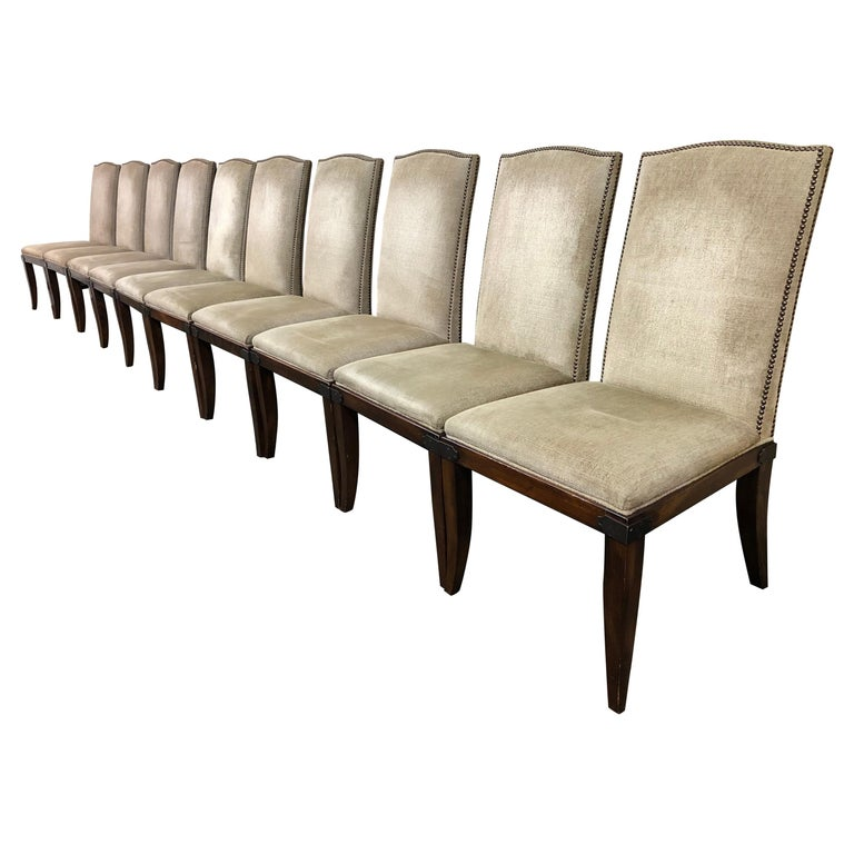 Hickory Chair Company Chelsea Dining Chairs Set Of Ten For Sale At
