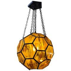 The Honeycomb Pendant by Marjorie Skouros Design