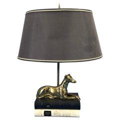 Brass Greyhound Table Lamp by Thomas Blakemore