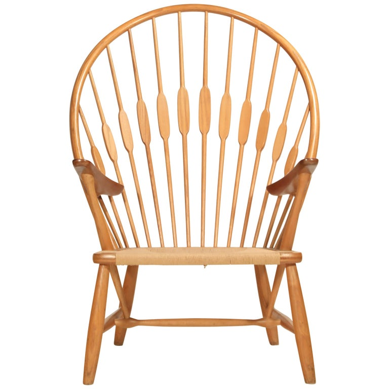 Peacock Chair by Hans Wegner for Johannes Hansen, 1960s Denmark, Signed For Sale
