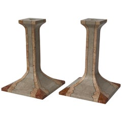 Maitland Smith Pink Coral Candlesticks
