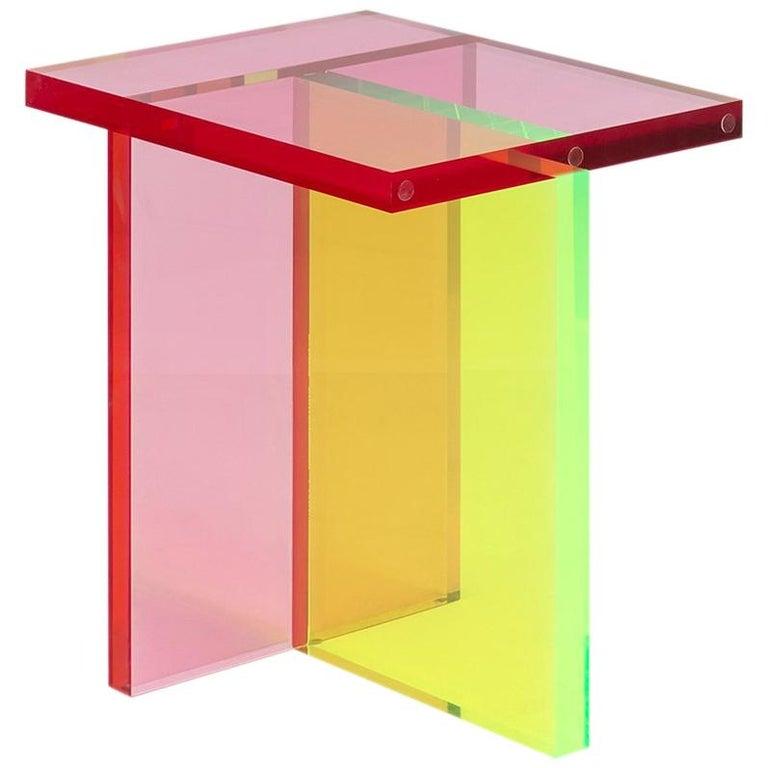 Neon Stool Set in Acrylic by Umzikim For Sale