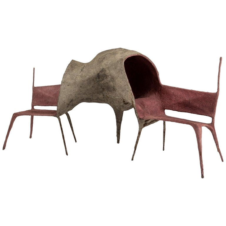 Lovers Chair in Paper and Steel by Nacho Carbonell For Sale