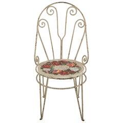 Sedia Con Rose Chair with Venetian Glass Seat by Yukiko Nagai