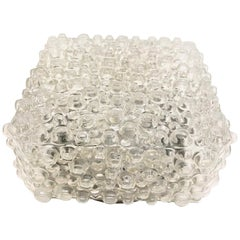 Bubble Glass Flush Mount Ceiling Light, Austria, 1960s