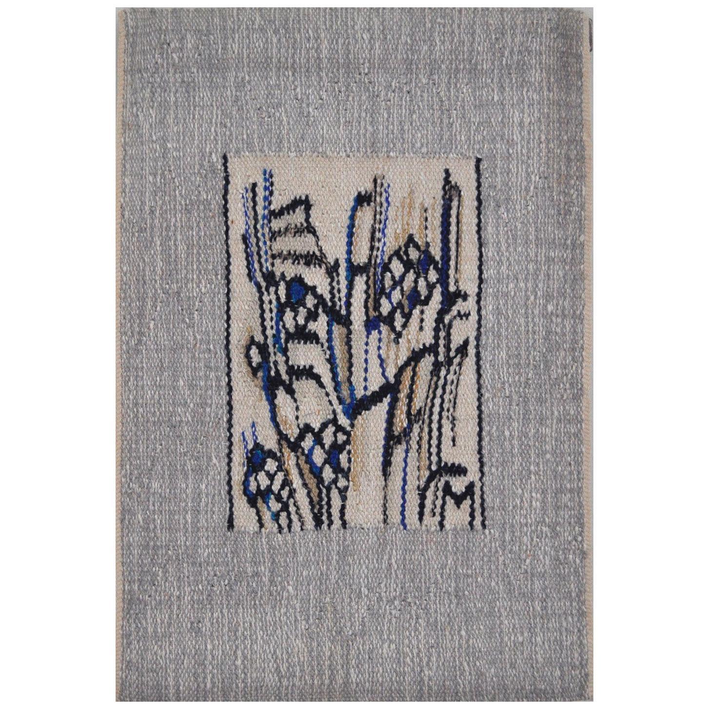 Abstract Handwoven Wall Tapestry by the Danish Artist Mette Birckner
