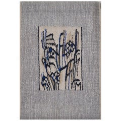 Abstract Handwoven Wall Tapestry by the Danish Artist Mette Birckner