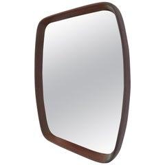 Mid-Century Modern Teak Frame Italian Mirror, 1960s