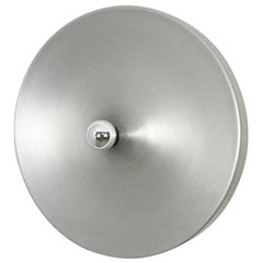 Modernist 1970s German Extra Large Disc Wall Light Made by Staff Lights, Germany