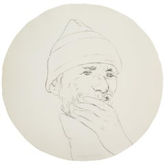 R. B. Kitaj Untitled from Self-Portrait in a Convex Mirror