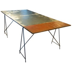 Large Industrial Table by Upcycle Artist Frits Jeuris, Old Brewery Door