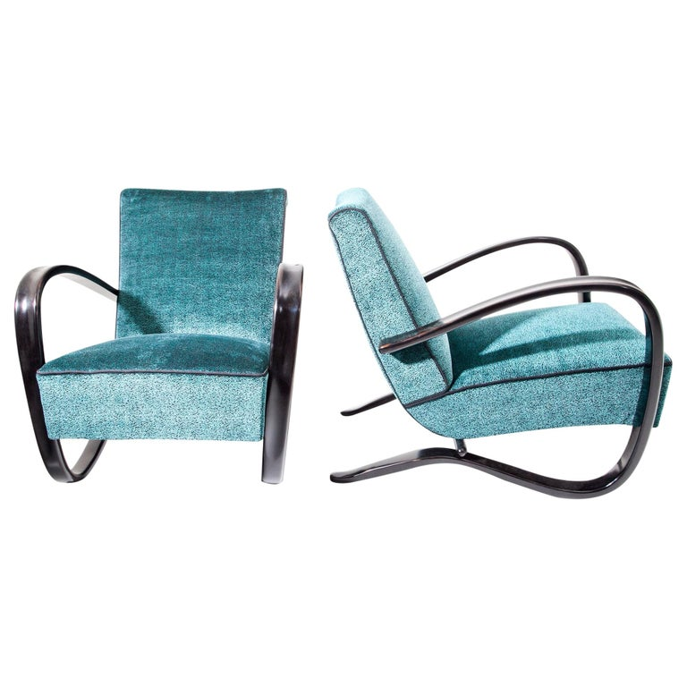 Lounge Chairs by J. Halabala, Czech Republic, 1930s For Sale