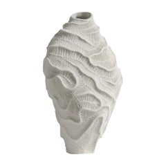 Fossilia White Vase by Fos Ceramiche