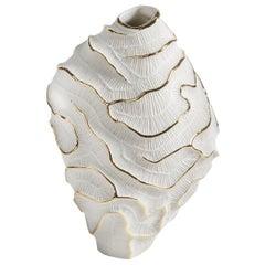 Fossilia Gold Vase by Fos Ceramiche