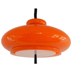 Orange Glass Blown 'Bowl' B-1009.21 Pendant Lamp by RAAK, 14 Available