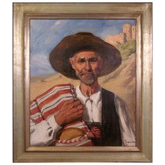 Portrait Painting by California Artist John Bond Francisco, Early 20th Century