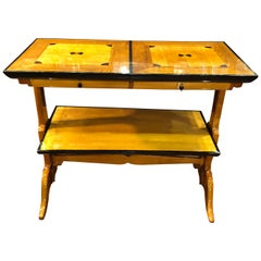 19th Century Biedermeier Birch and Elm Etagere Console Table, 1860s