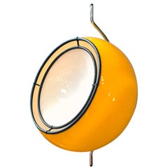 Midcentury Pendant Lamp by Harvey Guzzini, Yellow and White