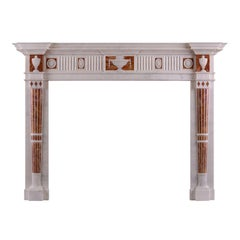 Good Quality English Statuary and Jasper Marble Fireplace