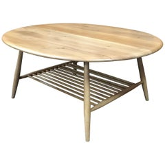 Model 454 Coffee Table by Lucian Ercolani for Ercol, Blonde, Elm and Beech