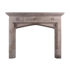 Carved Bath Stone Fireplace in the Gothic Style