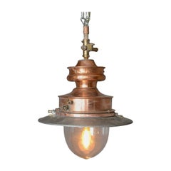 Antique Gas Lamp, Converted for Modern Home, English, 19th Century, circa 1880